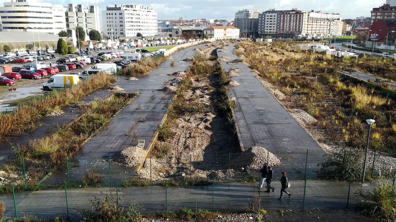 Antiguos terrenos ferroviarios afectados por el Plan de Vías