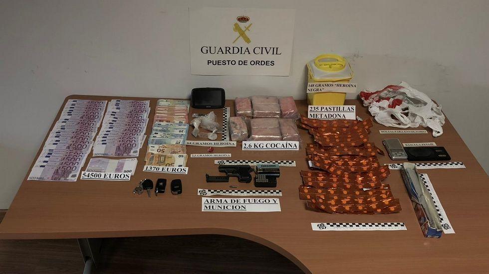 Desarticulado en Ordes un grupo dedicado al tráfico de drogas