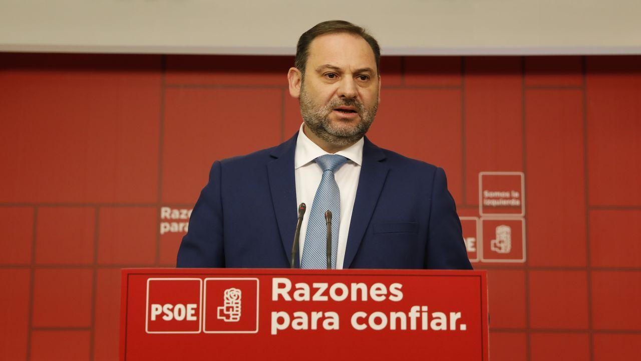Imágenes de la reunión de Podemos Asturias y el Gobierno regional durante la negociación de los Presupuestos de 2019