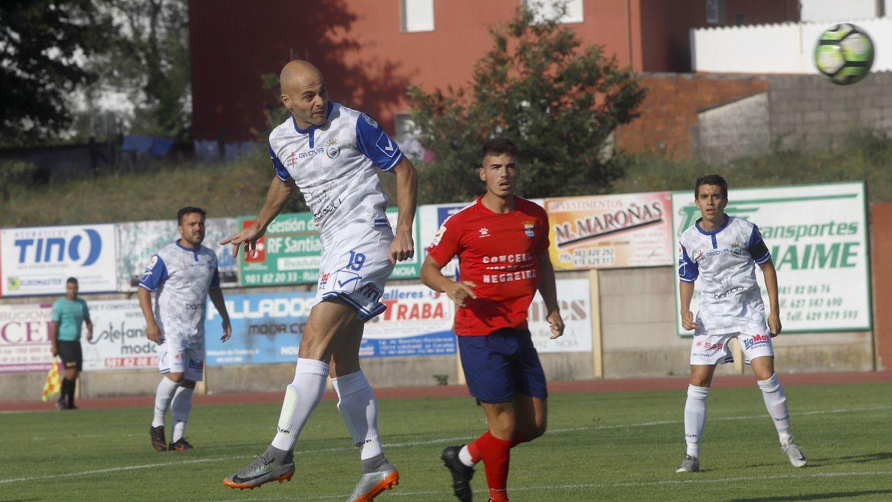 ¡Así se vivió el homenaje a Matito y el partido entre Noia y Negreira!.
