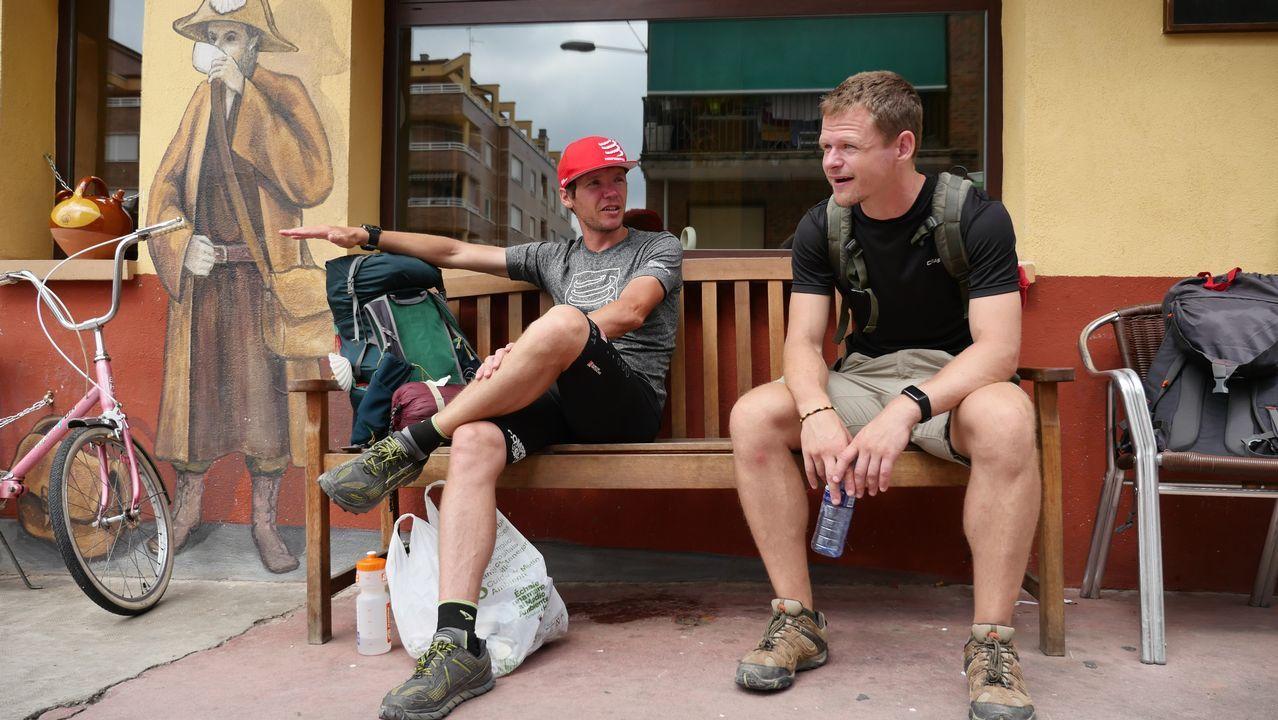 Descansando en Nájera, un alto en la ruta