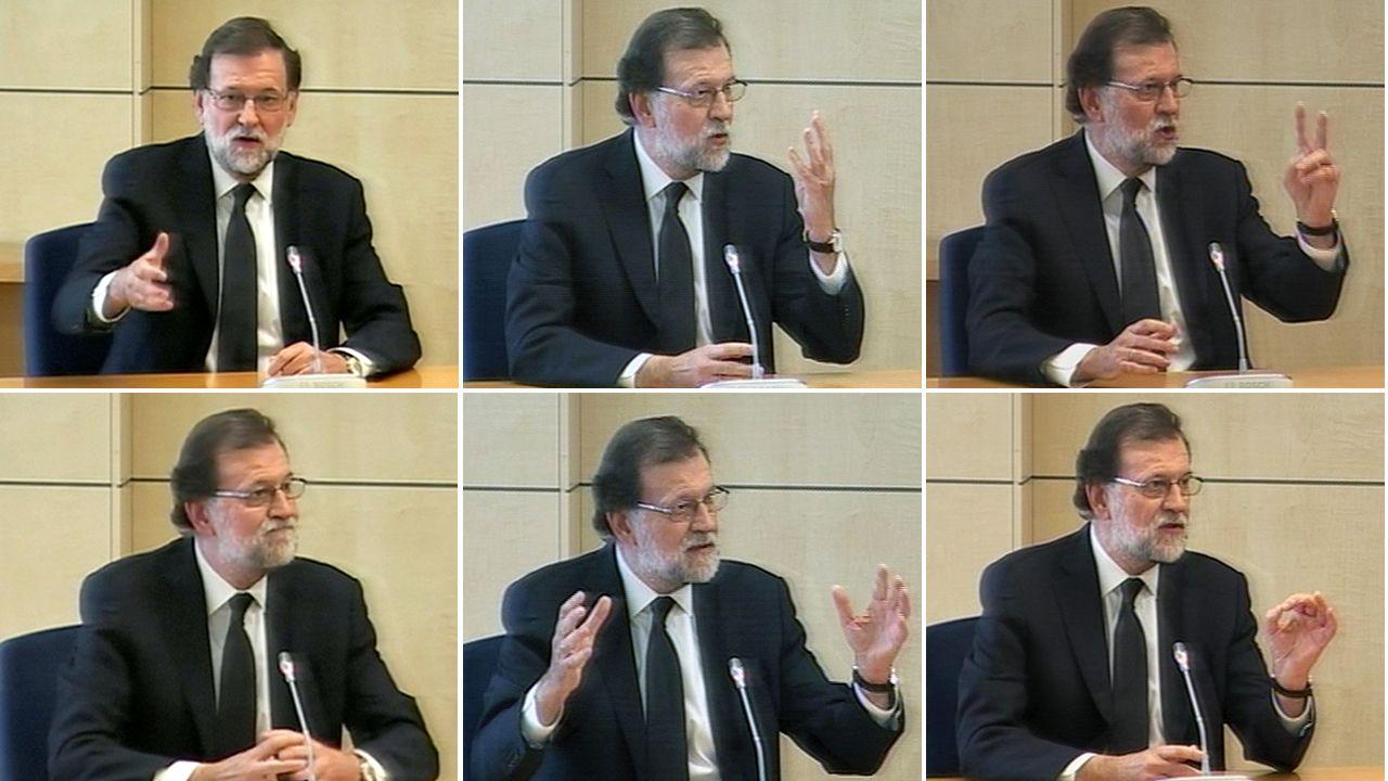 Los momentos destacados de la declaración de Rajoy