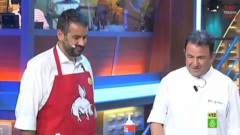 Los presentadores de Top Chef, Yayo Daporta, Susi Díaz y Alberto Chicote