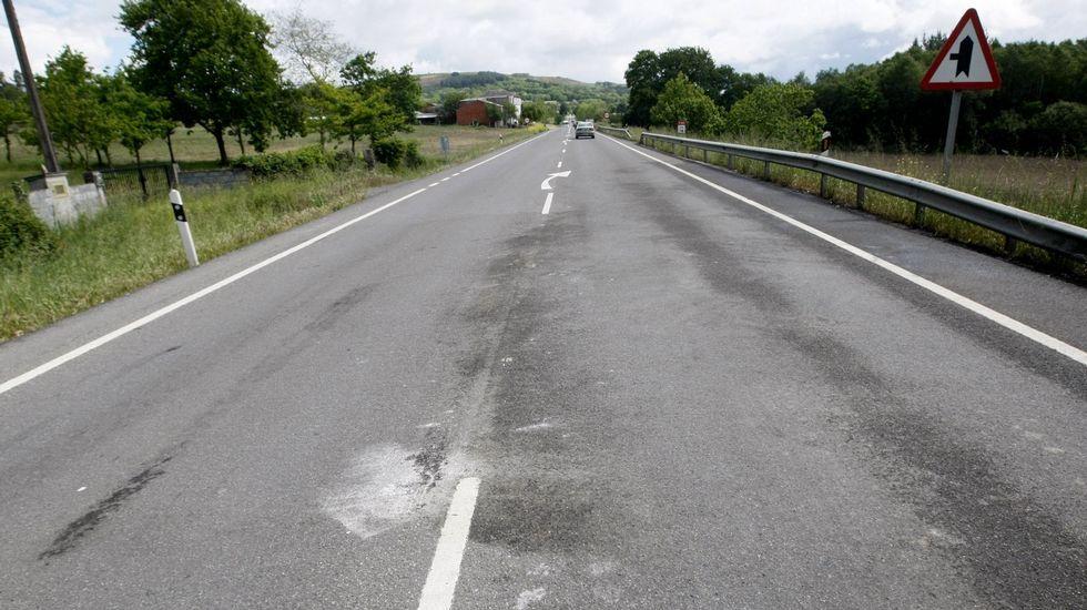 Lugar del accidente en el kilómetro 14 de la N-540