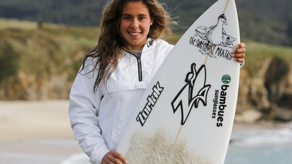 Isa Gundín, una de las mejores surfistas de Europa de su edad