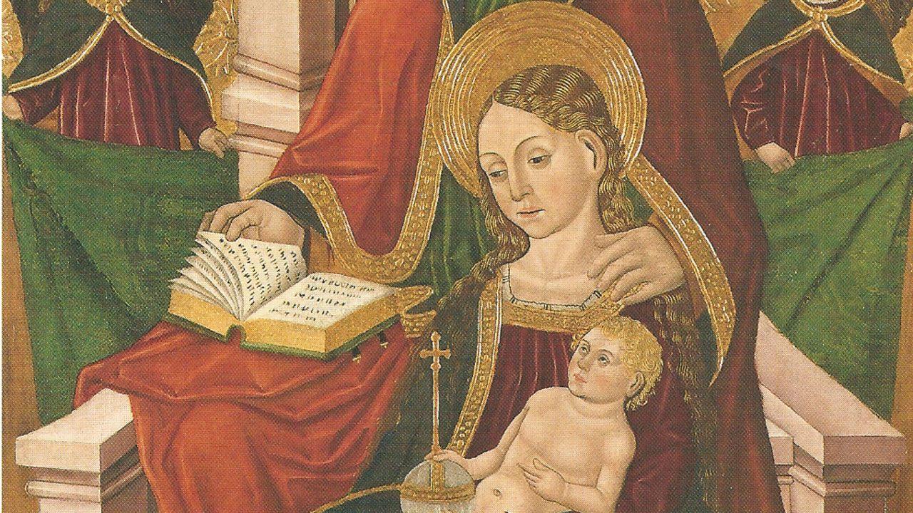 Fragmento de «Virgen con el Niño y Santa Ana», de Juan de la Abadía