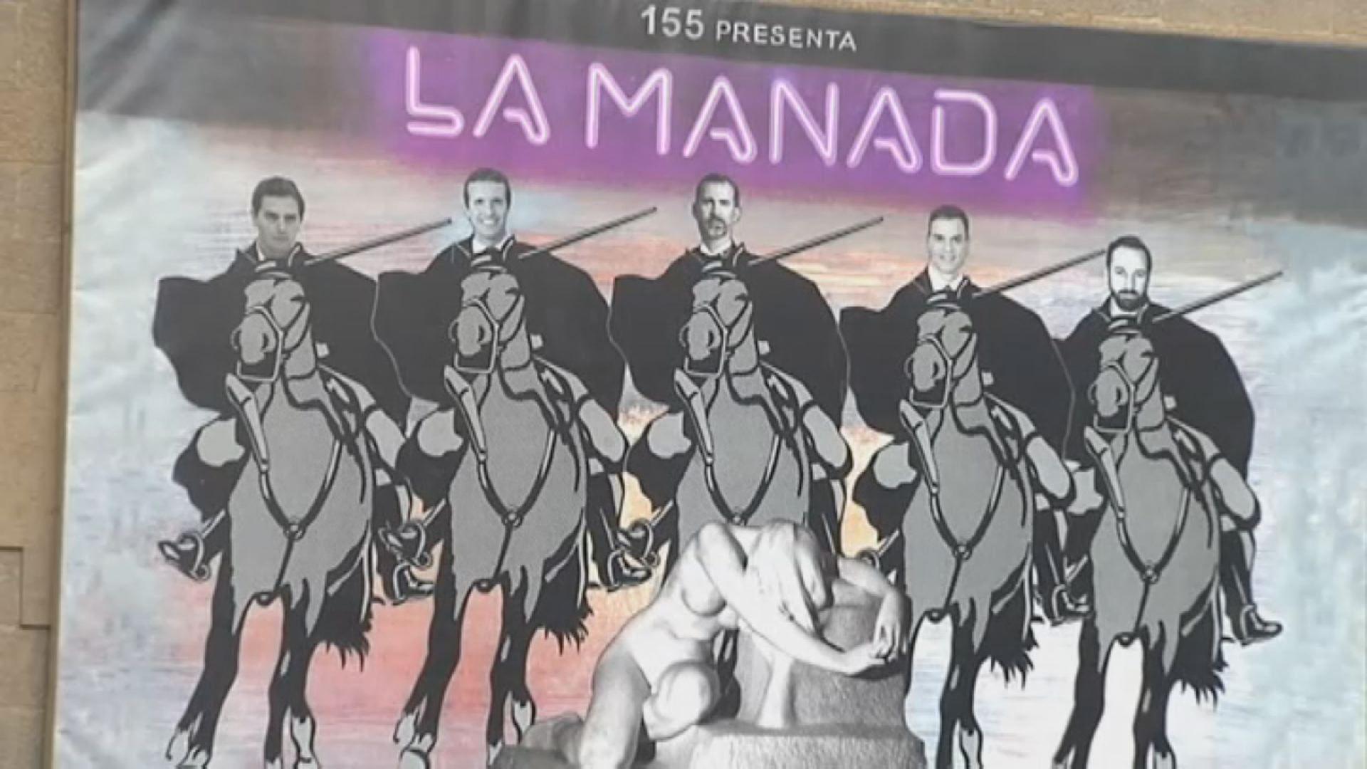 Polémico mural en Olot: compara a los líderes políticos con «La Manada».Juzgados de Avilés