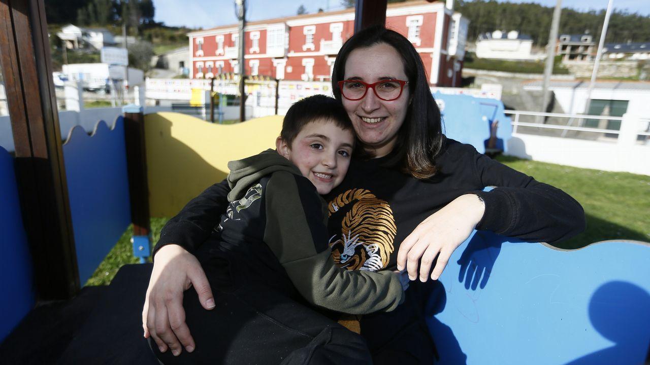 Daños colaterales.Inés, con su hijo Nicolás, que está deseando que nazca su hermanita