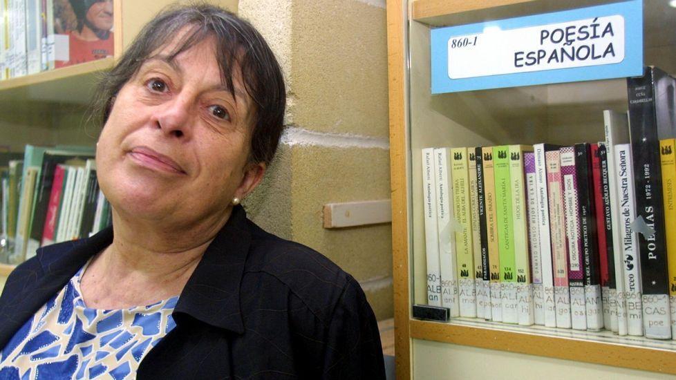 A escritora María Victoria Moreno