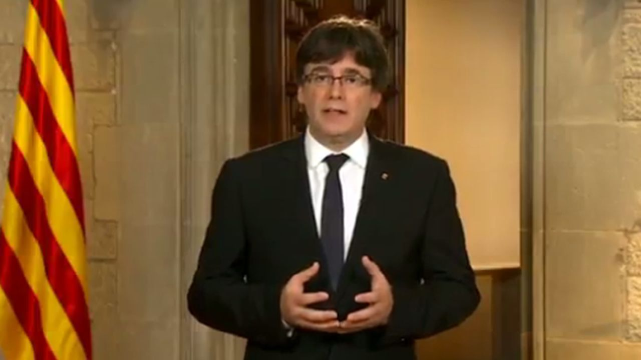 En streaming, la comparecencia de Puigdemont