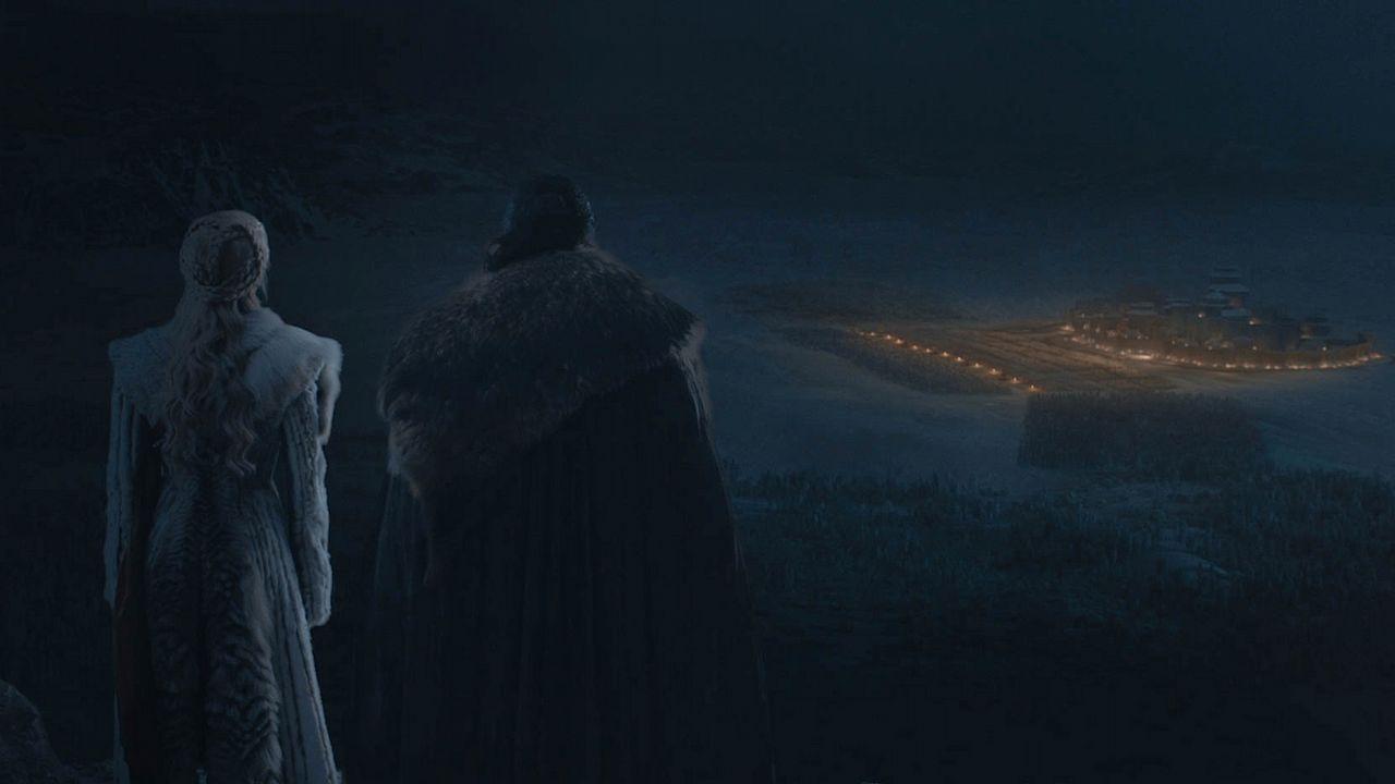 Escena del episodio cuarto de la octava temporada de «Juego de tronos»